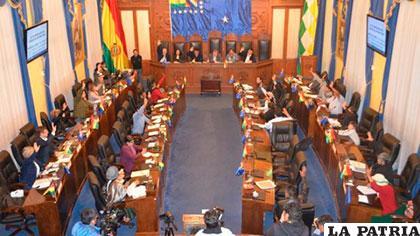 Sesión de la Cámara de Senadores, donde se abrogó el nuevo Código del Sistema Penal /SENADO