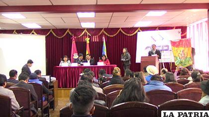 Presidente y vocales del TEDO expusieron rendición pública de cuentas /LA PATRIA