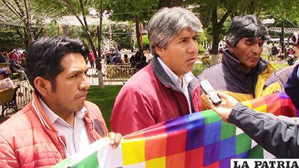Sánchez es el representante orureño de Bolivia Somos Todos /LA PATRIA