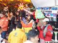 El año pasado juventudes del MAS aprovecharon el Carnaval para hacer propaganda política /LA PATRIA /ARCHIVO