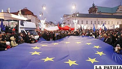 Jueces y abogados de toda Europa participan en una manifestación denominada ´Marcha de los Mil Togas´ /EUROEFE