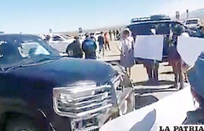 El ingreso a Uyuni estuvo bloqueado al llegar Juan Carlos Zuleta /ERBOL