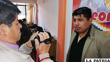 Gerente de Amdeor, Miguel Ángel Flores Calizaya /LA PATRIA /ARCHIVO