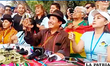 Director del Fondo Indígena, Rafael Quispe, encabezó una nueva versión del