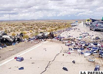 El lugar donde ocurrió el accidente /RR.SS
