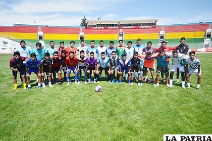 Los deportistas que fueron parte de la selección orureña la gestión pasada, para este año todavía no se tiene un combinado  /LA PATRIA /ARCHIVO