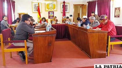 El Concejo conformó sus comisiones que trabajarán hasta la posesión de nuevas autoridades /LA PATRIA