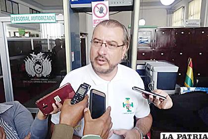 El presidente del Comité Cívico Pro Santa Cruz, Rómulo Calvo /ABI
