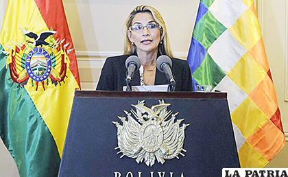 El mensaje de Jeanine Áñez Mensaje se enfocará en la pacificación, democracia y economía /atalayar.com