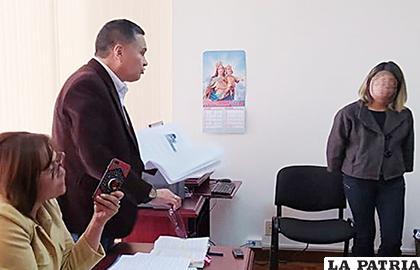 Eduardo León en una audiencia judicial en La Paz /erbol.com.bo