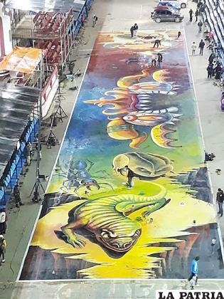 Obras de arte nuevamente pretenden adornar la entrada del Carnaval de Oruro /LA PATRIA/archivo