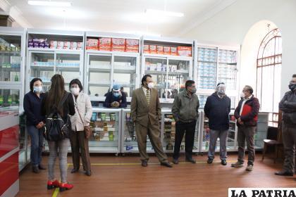 Presentación e inauguración de la Farmacia de la UTO /LA PATRIA