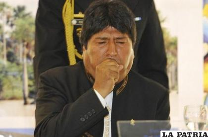 Evo Morales, durante un acto /RRSS