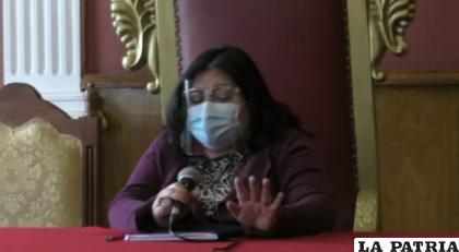 Edda Fiorilo, secretaria de Desarrollo Humano del municipio de Oruro  /LA PATRIA