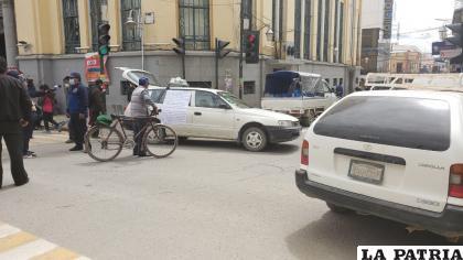 El paro fue contundente en la ciudad de Oruro /LA PATRIA