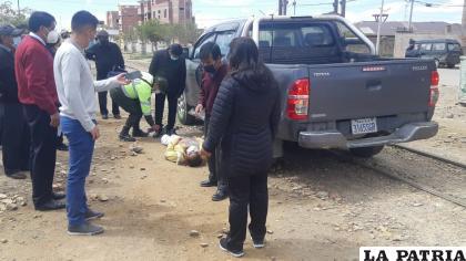 El actuado investigativo se llevó en el mismo lugar donde ocurrió el accidente fatal /LA PATRIA