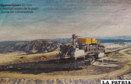 La producción minera en la empresa San Cristóbal, es la que muestra mayores adelantos tecnológicos y seguridad al medio ambiente.