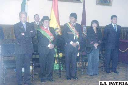 Ritual denominado Te Deum Ecuménico, realizado en la Prefectura de Oruro, ayer