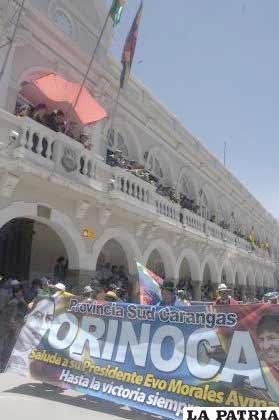 El pueblo del presidente Evo Morales, saludó al Primer Mandatario