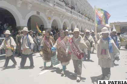 El Municipio de Chipaya, junto a sus principales autoridades