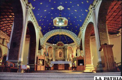 Impresionante imagen del interior del Santuario