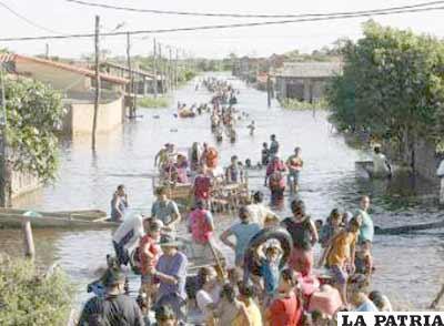 Trinidad, la capital del Beni soporta inundaciones desde hace siglos