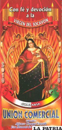 Las comparsas que participan de la fiesta de Tentaciones, también profesan su fe a la Virgen del Socavón