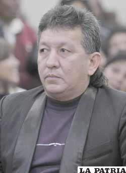 El viceministro de Deportes, Miguel Angel Rimba