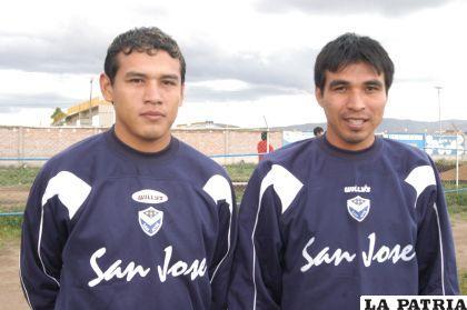 Los defensores Alan Loras y Jorge Bruno