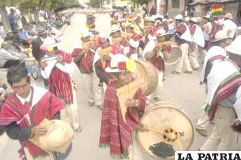 Danzantes del cantón Uyuni