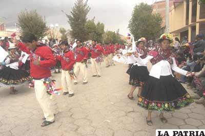 La moseñada es una de las danzas más preferidas en la entrada del Jach´a Anata