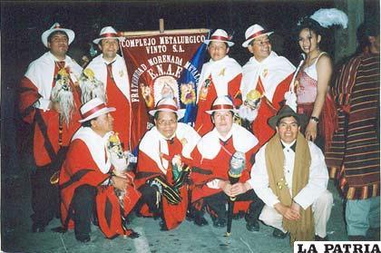 Integrantes de la Morenada ENAF celebraron tres décadas de presencia viva en el Carnaval de Oruro