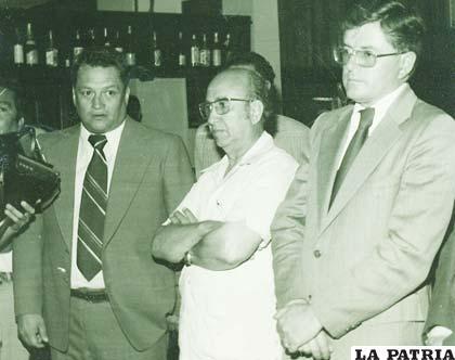 Alfredo Salazar, Oscar Mileta y Ramiro Miranda