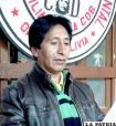 Dirigente reelecto, Cristóbal Huacota