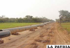 El gas transportado tiene como destino el vecino país de Brasil