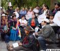 Indígenas y activistas protestaron frente a la Embajada de Brasil