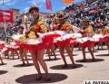 Desbordante alegría y entusiasmo de las cholitas de la Morenada Central Oruro, fundada por la comunidad Cocani