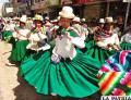 El conjunto ganador procedente de Choquecota, en la entrada de la Anata Andina