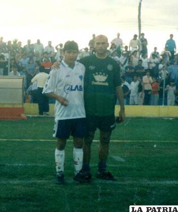 Zurita con Juan Carlos Farah el año 2001