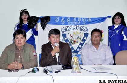 Conferencia de prensa del club San José