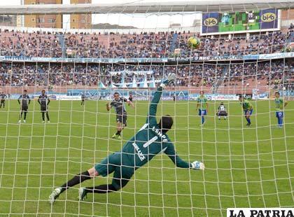 Ferreira malogró el remate desde el punto penal