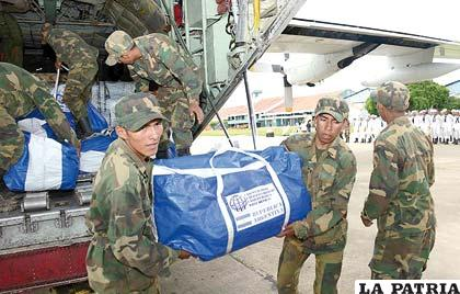 Ayuda humanitaria para damnificados por inundaciones llega de varios países