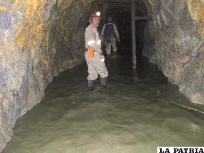 Las aguas ácidas podrían considerarse como amenaza en los parajes