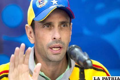 Líder opositor venezolano Henrique Capriles
