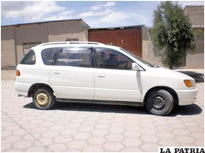 """Un vehículo """"chuto"""" circulaba por Huari"""