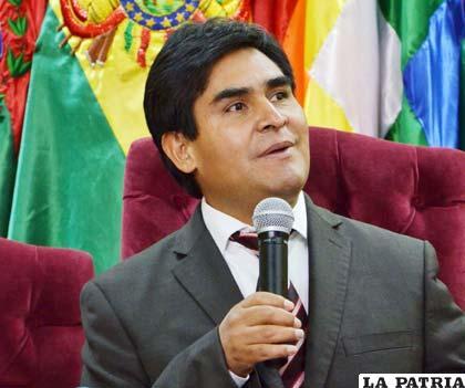 El vicepresidente del Tribunal Supremo Electoral, Wilfredo Ovando