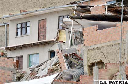 Así quedaron las viviendas en la zona Sur de La Paz