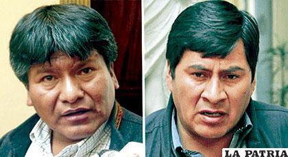 Gobernadores de Oruro y Potosí, Víctor Hugo Vásquez y Juan Carlos Cejas