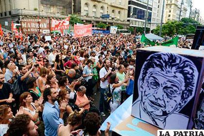 Sindicatos protestaron contra el gobierno de Mauricio Macri