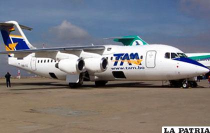 Los vuelos del TAM se realizan a La Paz, Santa Cruz y Cochabamba /ANF